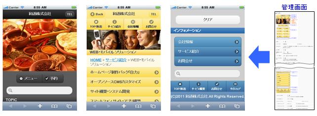 スマートフォン版の表示イメージ
